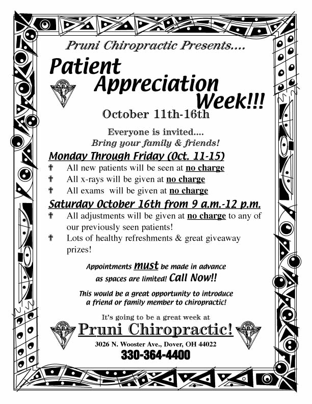 "Patient Appreciation Flyer - Style ""C"""