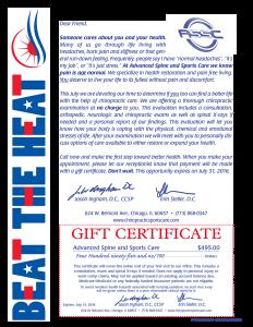 Beat The Heat Certificate sm