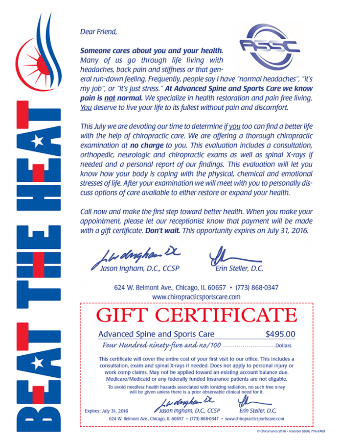 Beat The Heat Certificate sm