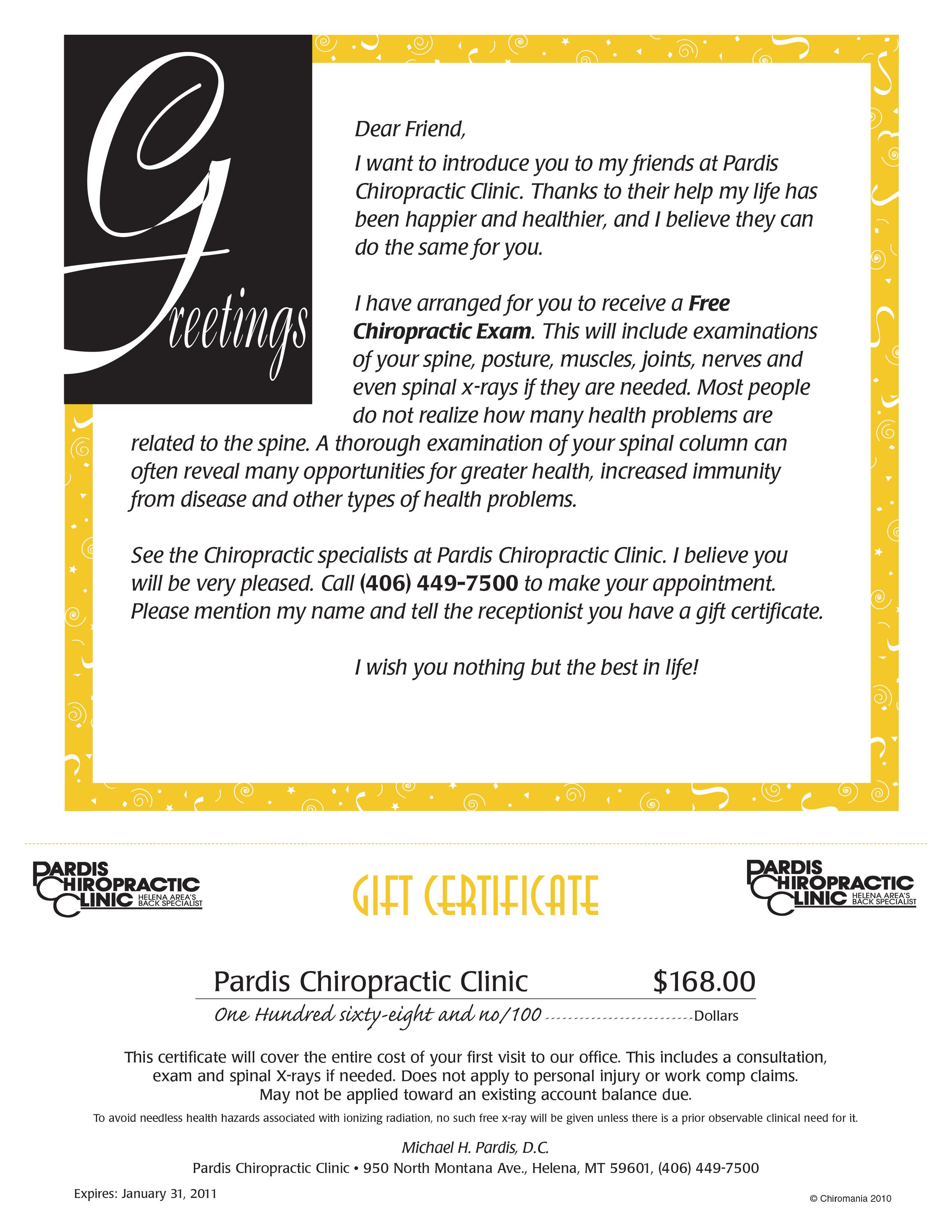 Greetings Certificate