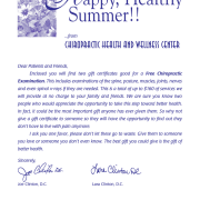 Happy Health Summer Letter