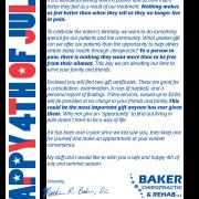 July 4 Fireworks Letter