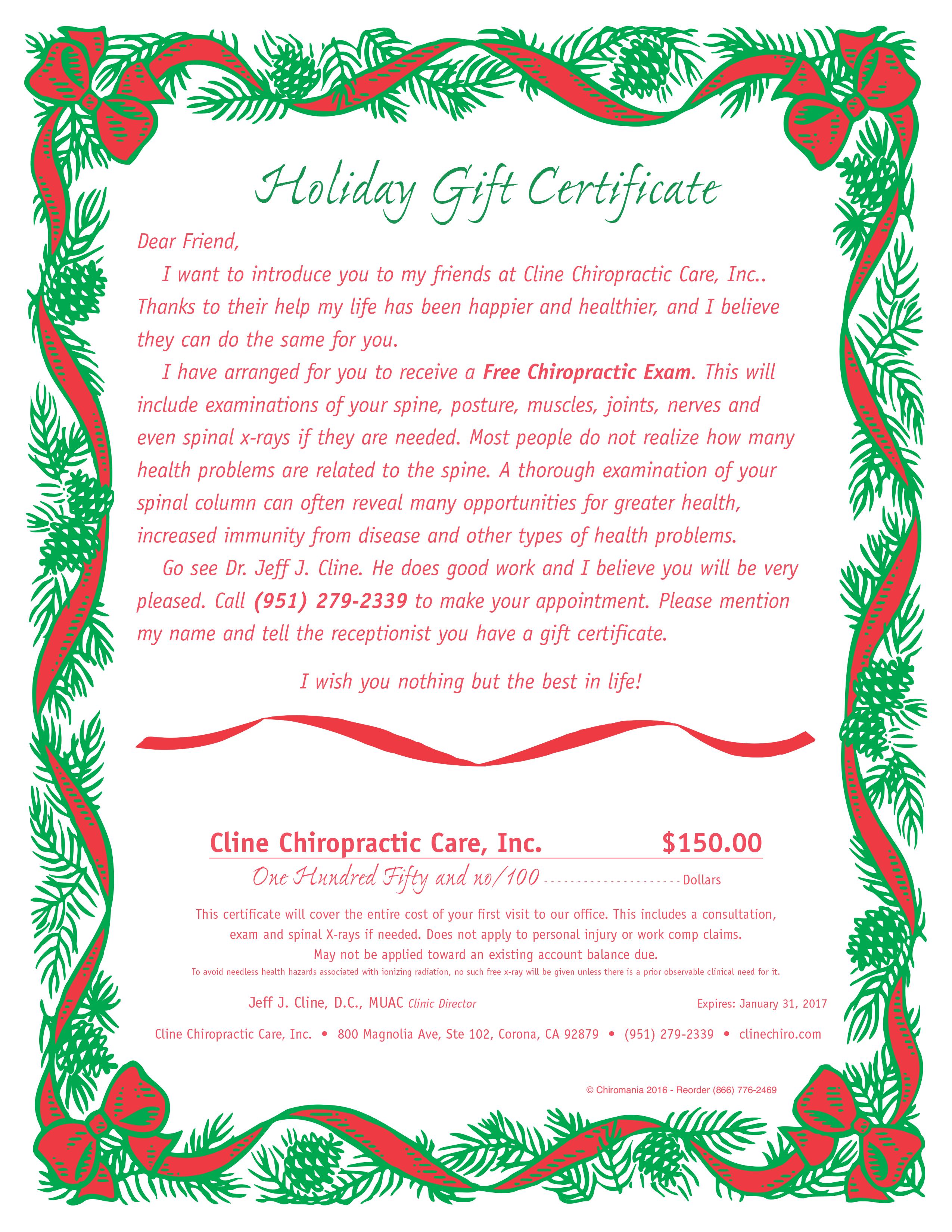 Pinecone Garland Certificate