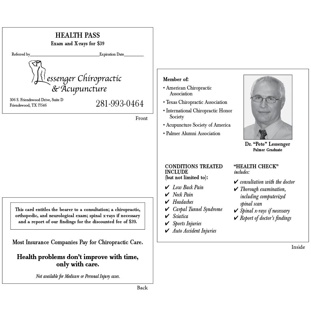 "Health Pass - Style ""C1"" (lessenger)"