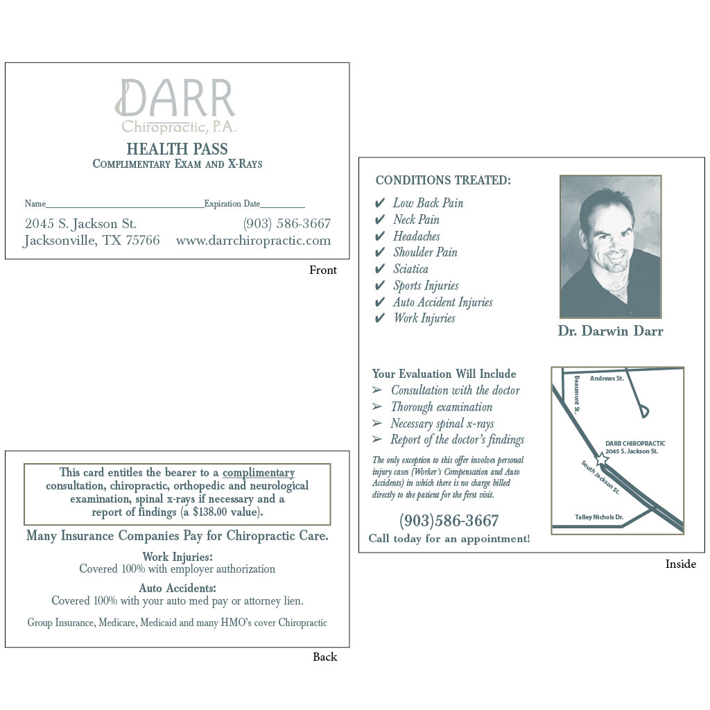 """Health Pass - Style """"A2"""" (darr)"""