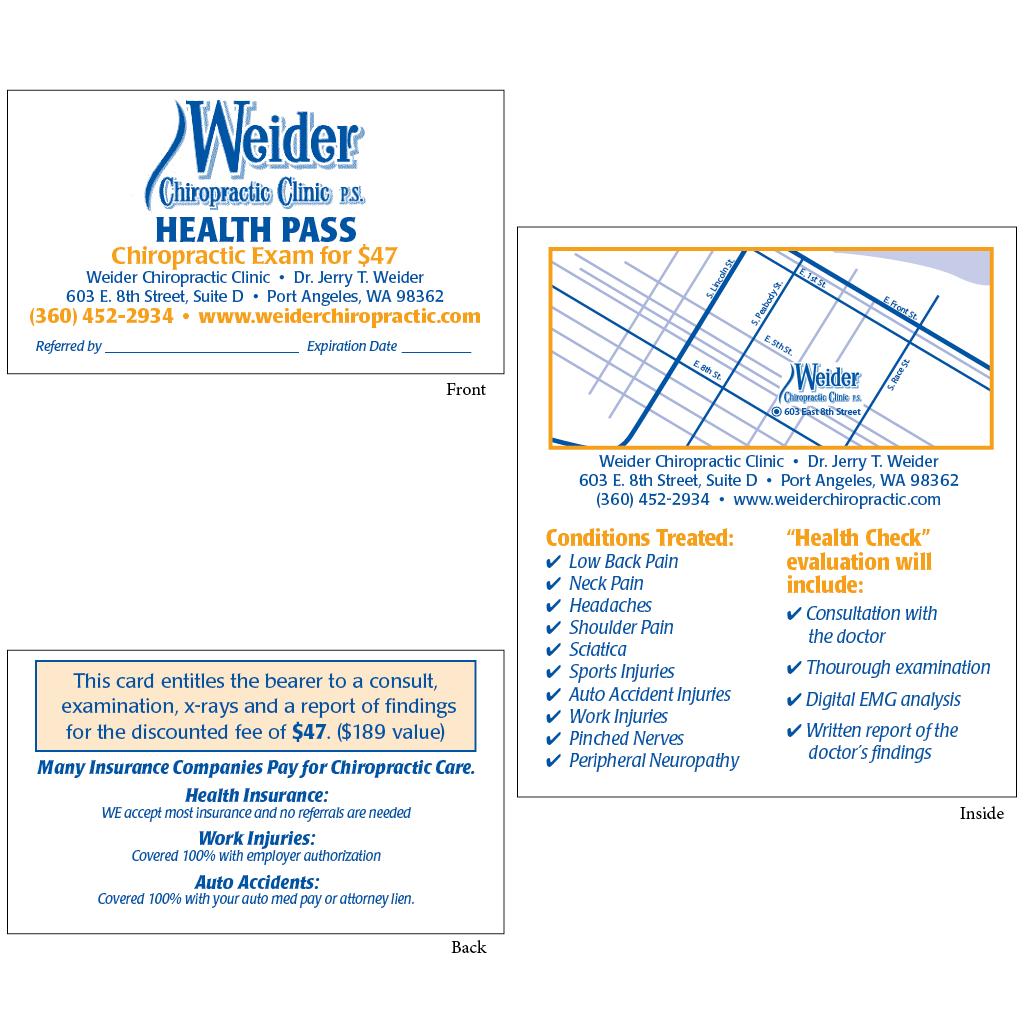 "Health Pass - Style ""B2"" (weider)"