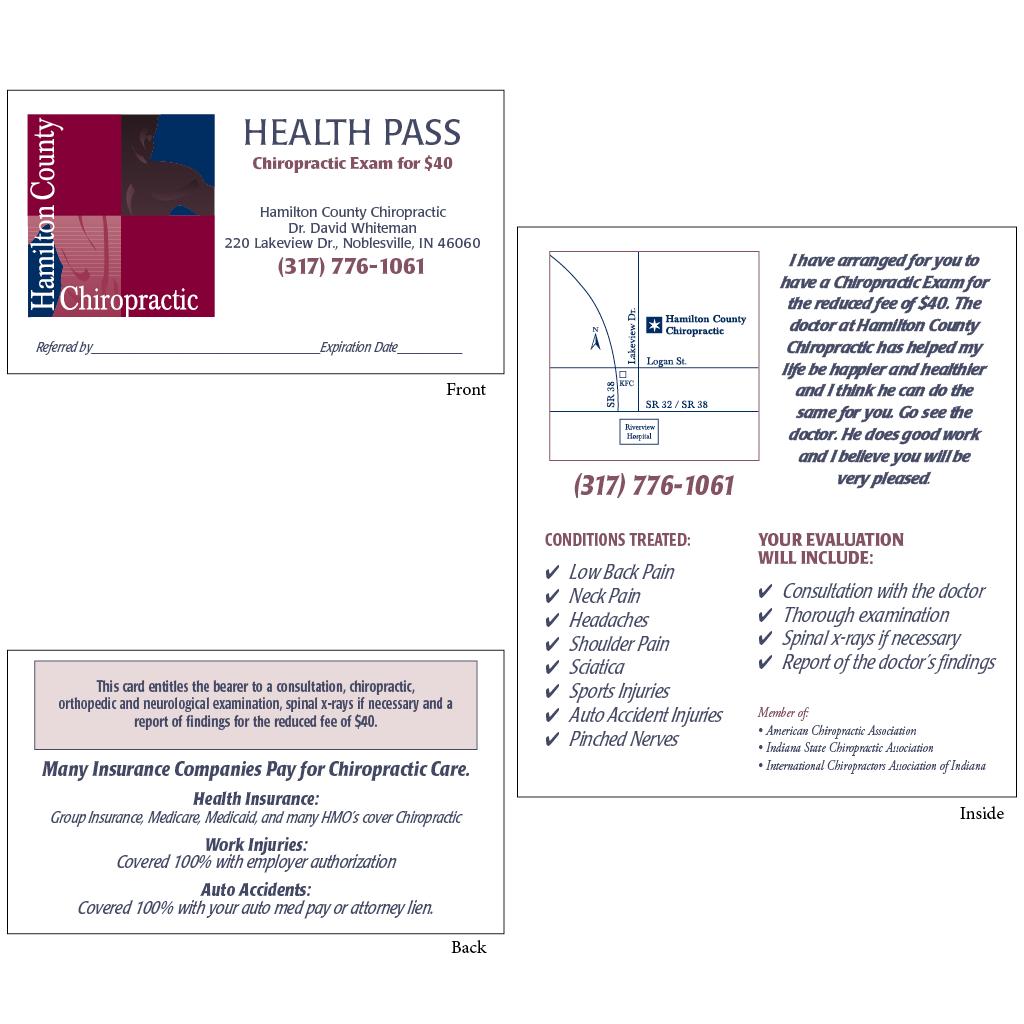 "Health Pass - Style ""C2"" (whiteman)"