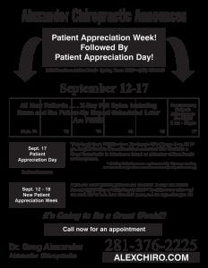 "Patient Appreciation Week Flyer - Style ""A"""