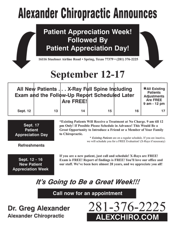 "Patient Appreciation Week Flyer - Style ""A"""